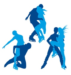 Skaters silhouettes vector image