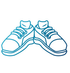 sport sneakers wearfoot vector image