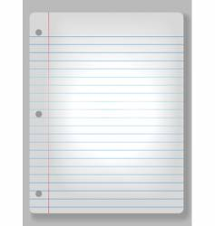 spotlight notebook paper vector image vector image
