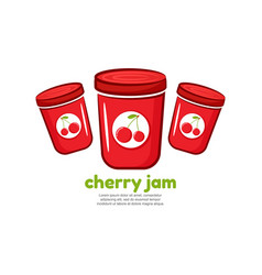 Template logo for cherry jam vector