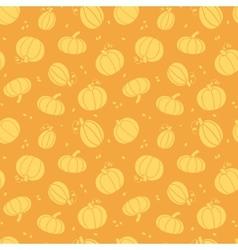 Thanksgiving golden pumpkins seamless pattern vector image vector image