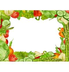 Vegetables set frame vector image vector image