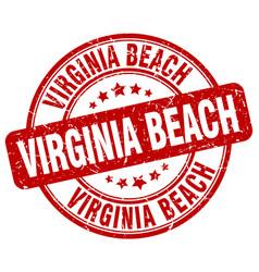 Virginia beach stamp vector