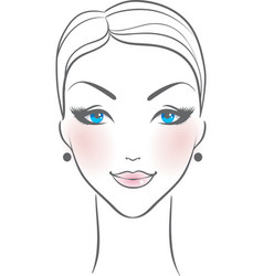 woman front face vector image vector image