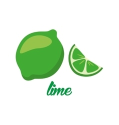 Lime fruits poster in cartoon style depicting vector