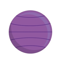 Ball purple fitness healthy lifestyle icon vector