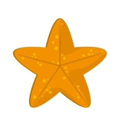 Cute starfish icon vector
