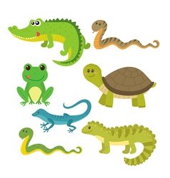 Set of creeping things Wild animals vector image