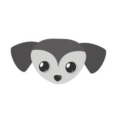 small dog face gray pet icon vector image