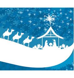 Birth of jesus in bethlehem - abstract card vector
