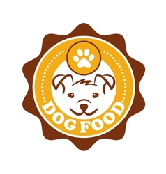 Dog food icon vector