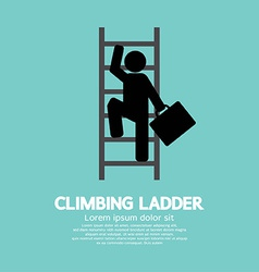 Businessman climbing ladder vector