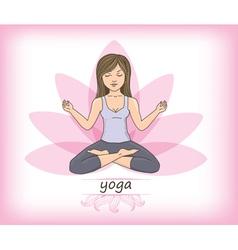 Zen yoga vector image
