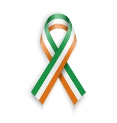 Ireland flag abstract irish ribbons vector
