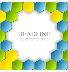 Abstract bright hexagons pattern design vector