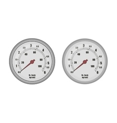 Pressure gauge bar vector image