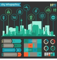 Utility infographics vector
