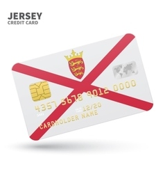 Credit card with jersey flag background for bank vector