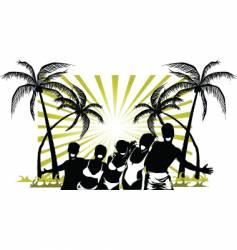 Palm beach party vector