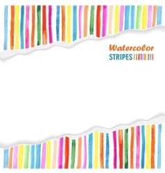 Postcard template with bright colored stripes vector