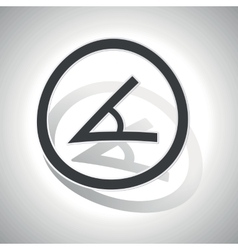 Angle sign sticker curved vector