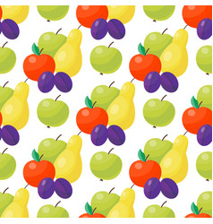 apple background textile green vector image vector image