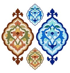 Artistic ottoman pattern series twenty vector