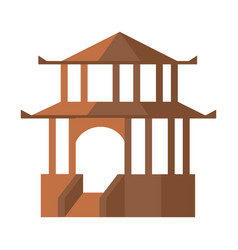 Asian pagoda isolated icon vector
