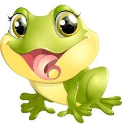 Beautiful frog with big eyes vector