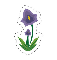Cartoon pansy flower spring image vector