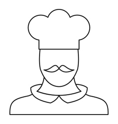 Chef cook icon outline style vector image vector image