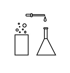 chemical test tubes icon vector image