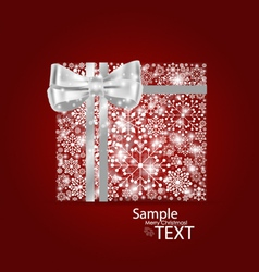 Christmas background with gift box made from vector image