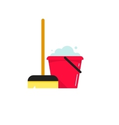 Cleaning supplies isolated on vector image