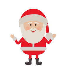 Colorful silhouette of smiling santa claus vector