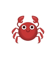 Crab Simple Cartoon Character vector image