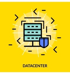 Datacenter colored icon vector image vector image