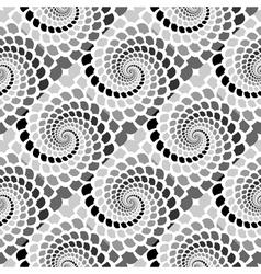Design seamless monochrome helix snakeskin pattern vector