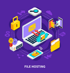 File hosting isometric design concept vector