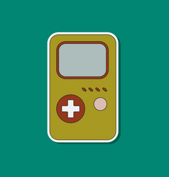 Flat icon on background game console vector