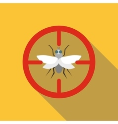 Fly icon flat style vector