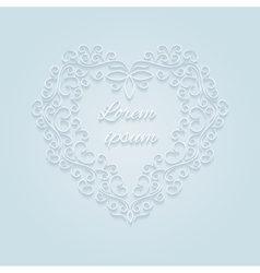 Heart decorative ornamental vector image