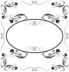 Invitation with beautiful designs vector
