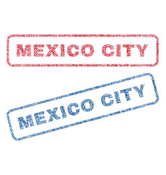 Mexico city textile stamps vector