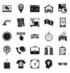 Office work icons set simple style vector