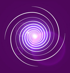 pink purple with white swirl spiral vector image vector image