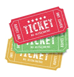 set of colourful tickets vector image vector image