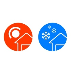 set of two weather icons vector image