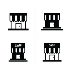 store and shop icons vector image vector image