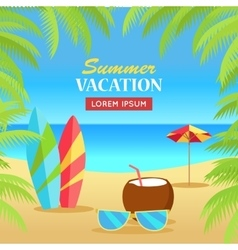 Summer Vacation on Tropical Beach vector image vector image